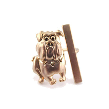 American Bulldog Shaped Animal Inspired Ring in Rose Gold | DOTOLY