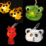 Mixed Animal Shaped Handmade Mulberry Paper String Light Lanterns | DOTOLY