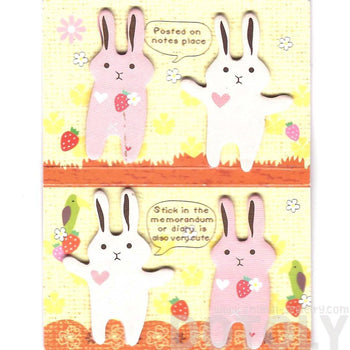 Animal Themed Bunny Rabbit Shaped Memo Pad Post-it Index Tab Sticky Notes | DOTOLY