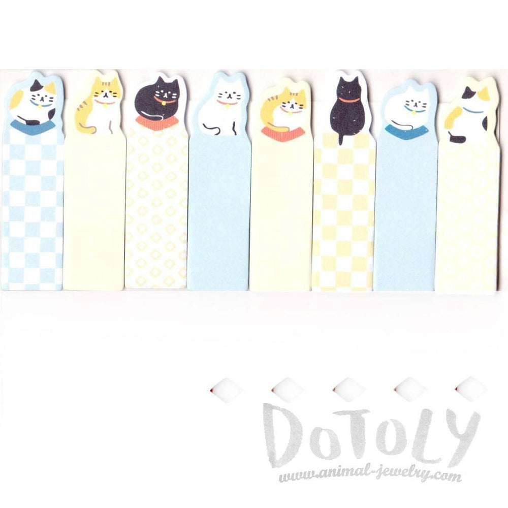 Animal Themed Memo Post it Index Tabs From Japan With Kitty Cat Design | DOTOLY