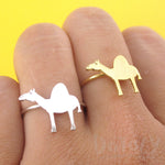 Arabian Camel Silhouette Shaped Adjustable Animal Ring | DOTOLY