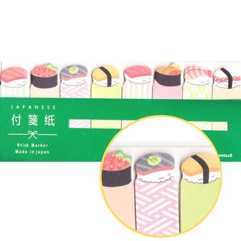 Assorted Sushi Japanese Food Themed Memo Post-it Index Bookmark Tabs | DOTOLY