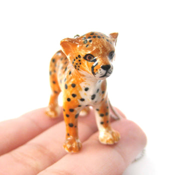 Baby Cheetah Leopard Porcelain Ceramic Animal Pendant Necklace | Handmade | DOTOLY