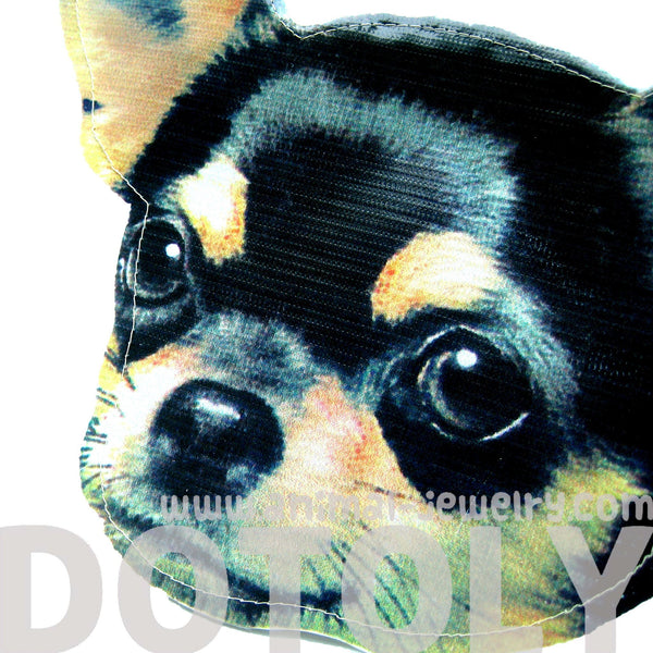 Baby Chihuahua Puppy Dog Head Shaped Vinyl Animal Clutch