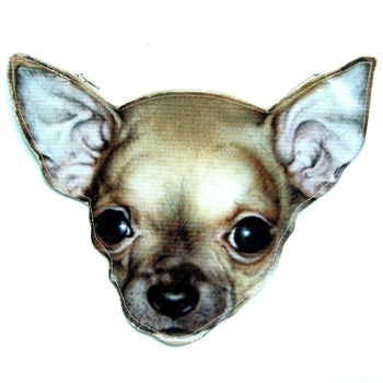 Baby Chihuahua Puppy Dog Head Shaped Vinyl Animal Themed Clutch Bag | DOTOLY | DOTOLY