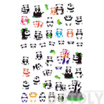 Baby Panda Bear Shaped Animal Themed Puffy Stickers for Scrapbooking and Decorating | DOTOLY