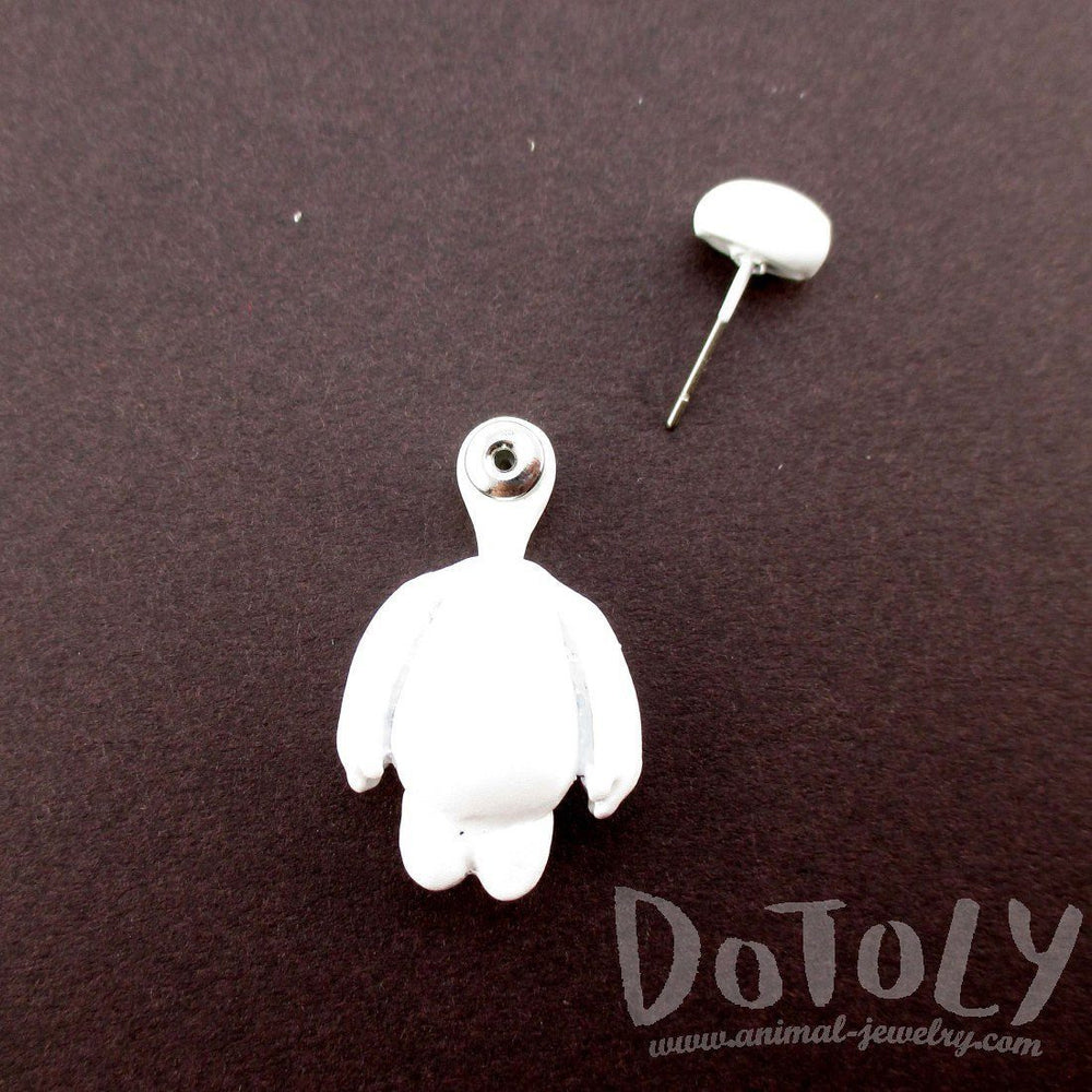 Big Hero 6 Baymax Shaped Two Part Front and Back Stud Earring | DOTOLY | DOTOLY