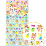 Birthday Teddy Bear Pig Gift Shaped Puffy Stickers for Scrapbooking | DOTOLY