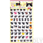 Black Kitty Cat Animal Shaped Puffy Sticker Seals for Scrapbooking and Decorating | DOTOLY