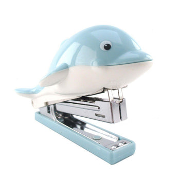 Blue Dolphin Shaped Office Stapler | Cute Stationery Supplies