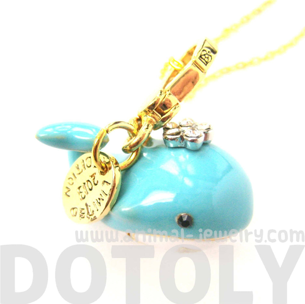 Blue Whale Shaped Animal Pendant Necklace | Limited Edition Animal Jewelry | DOTOLY