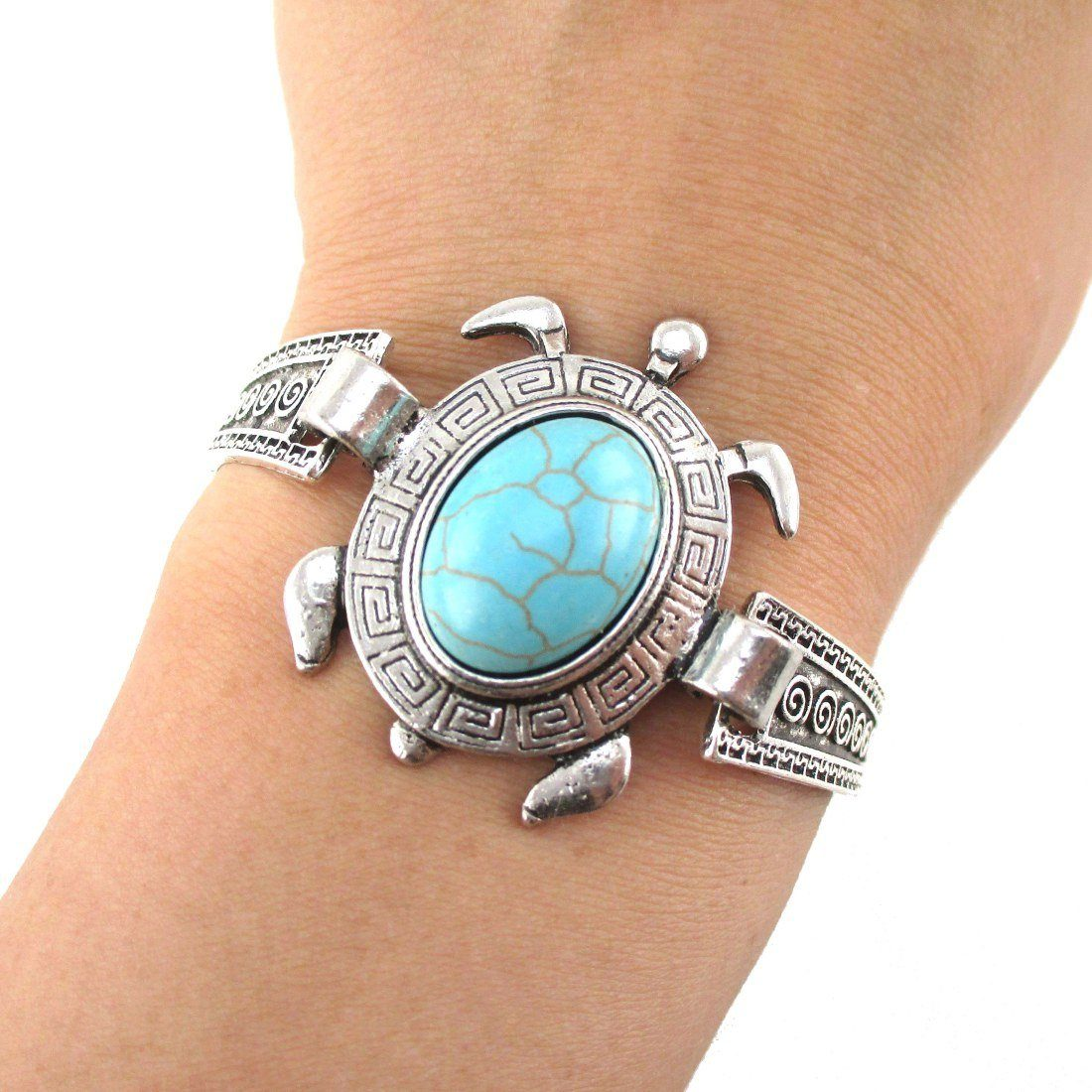 imports end bracelet stretch cord turtle world jewelry aztec sea
