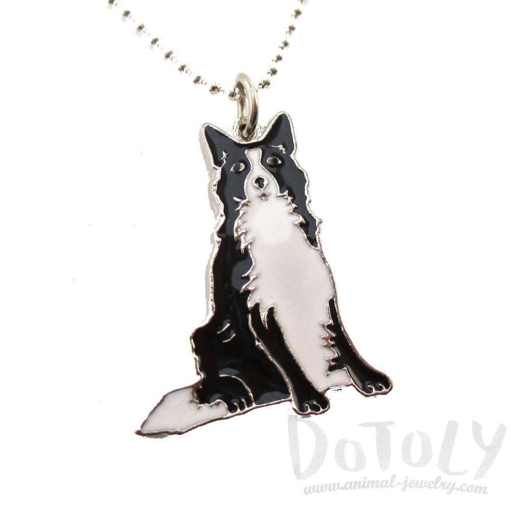 Border Collie Puppy Dog Shaped Animal Pendant Necklace | DOTOLY | DOTOLY