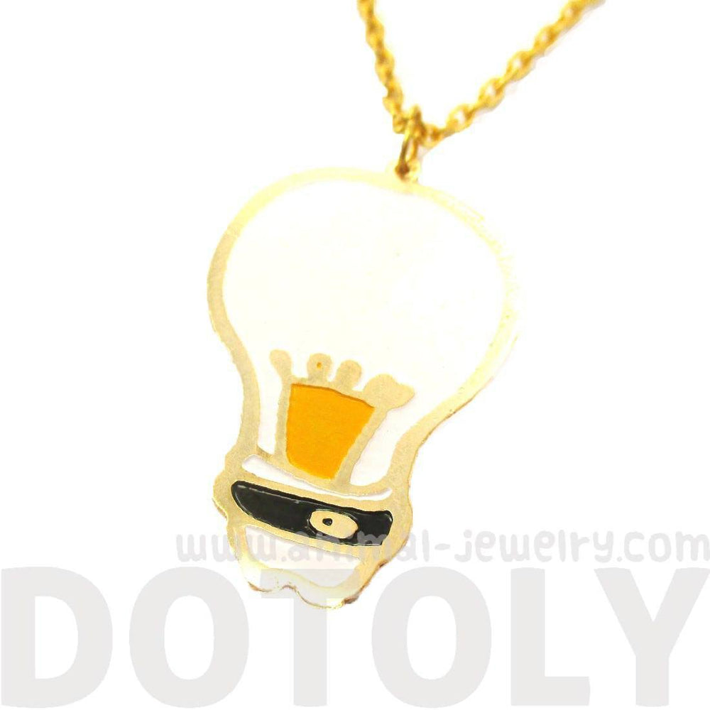 Bright Ideas Light Bulb Icon Shaped Pendant Necklace | Limited Edition | DOTOLY