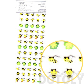 Bumble Bees and Four Leaf Clovers Shaped Puffy Stickers for Scrapbooking | DOTOLY