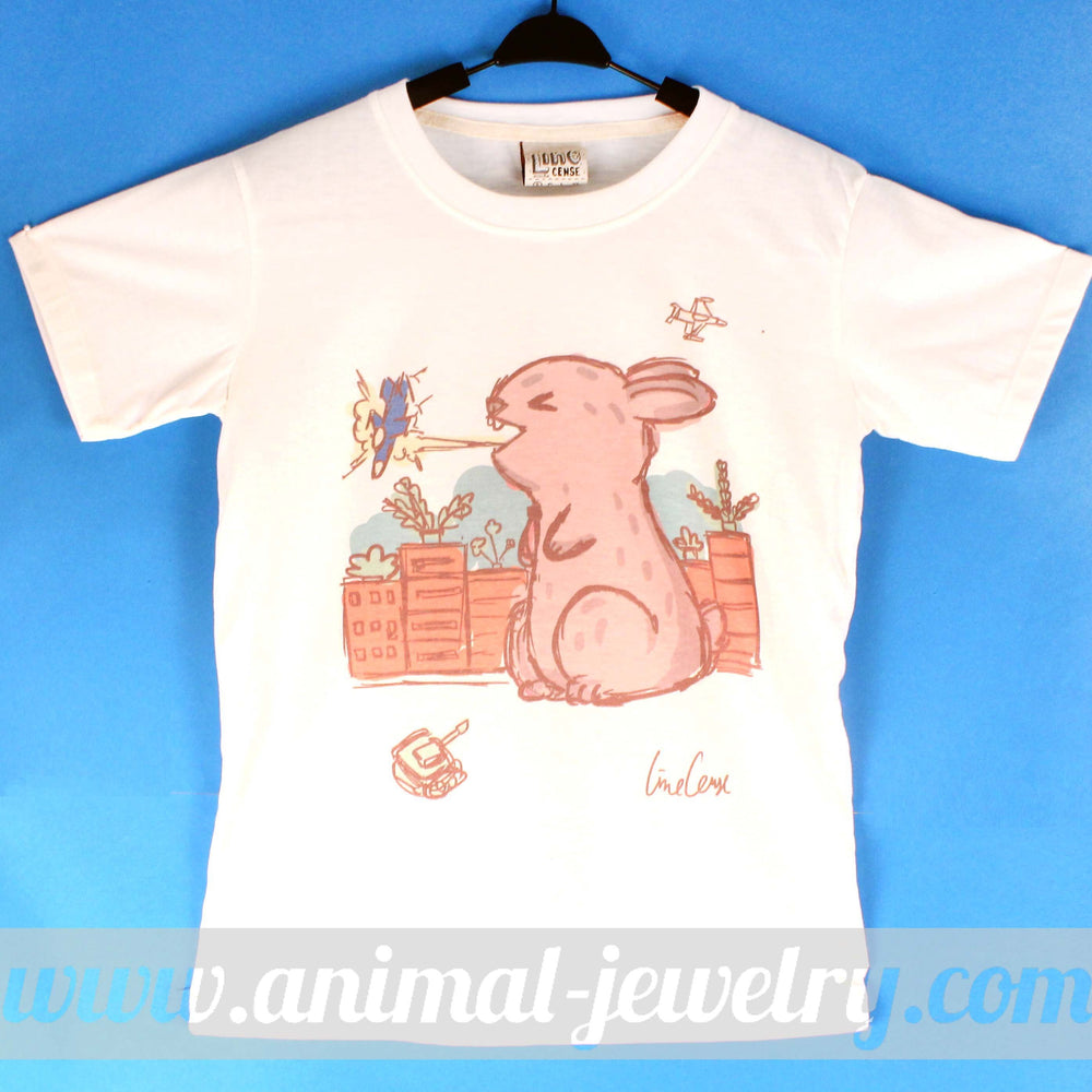 Bunny Rabbit Godzilla Hand Drawn Illustration Animal Graphic Tee | DOTOLY | DOTOLY