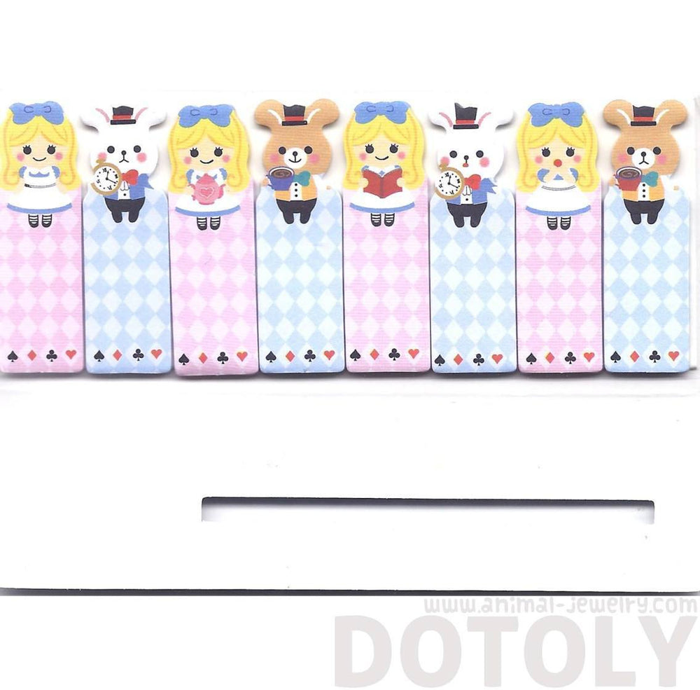 Bunny Rabbit and Alice Girl Shaped Sticky Memo Post-it Index Bookmark Tabs | DOTOLY