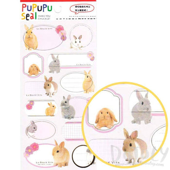 Bunny Rabbit Glossy Photo Label Index Stickers for Scrapbooks and Card Making | DOTOLY