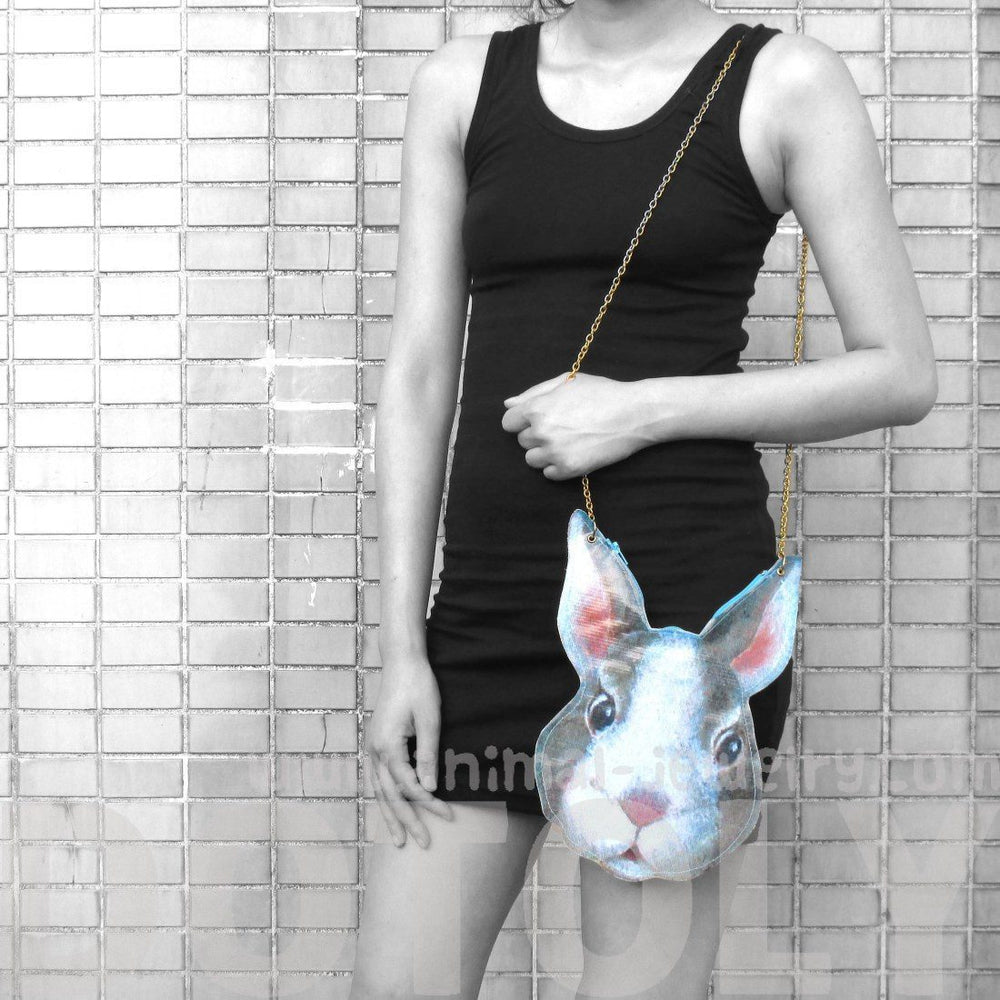Bunny Rabbit Head Shaped Vinyl Animal Themed Cross Body Shoulder Bag | DOTOLY | DOTOLY