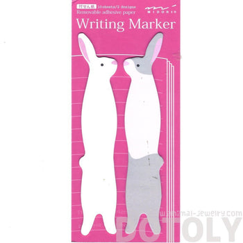 Bunny Rabbit Shaped Animal Themed Sticky Post-it Writing Memo Marker Pad Bookmark Tabs | DOTOLY