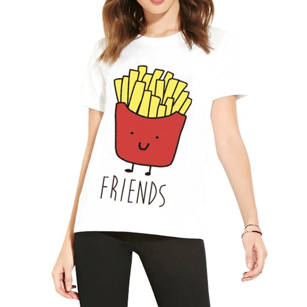 Burger and Fries Best Friends T-Shirt Graphic Print Tees | 2 Piece Set | DOTOLY