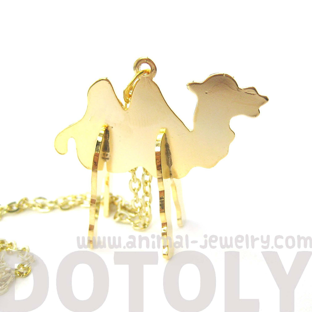 Camel Shaped Animal Puzzle Jigsaw Pendant Necklace in Gold | Limited Edition | DOTOLY
