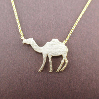 Camel Silhouette Shaped Pendant Necklace in Gold | Animal Jewelry | DOTOLY
