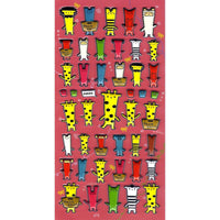 Cartoon Giraffe Elephant Animal Blockhead Shaped Puffy Stickers for Scrapbooking | DOTOLY