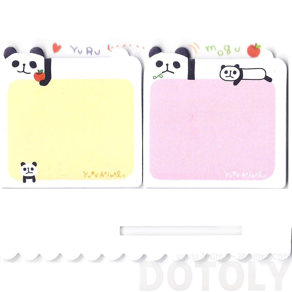 Cartoon Illustrated Panda Bear Shaped Animal Sticky Post-it Memo Note Pads | DOTOLY