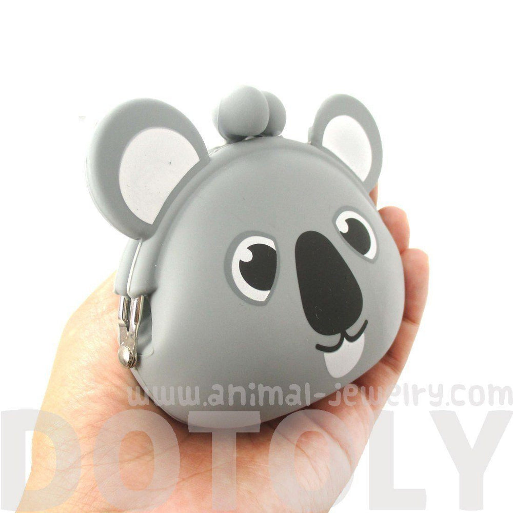 Cartoon Koala Bear Shaped Mimi Pochi Animal Friends Silicone Clasp Coin Purse Pouch | DOTOLY