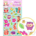 Cartoon Owl Birds Squirrel Rabbit Shaped Puffy Stickers for Scrapbooking | DOTOLY