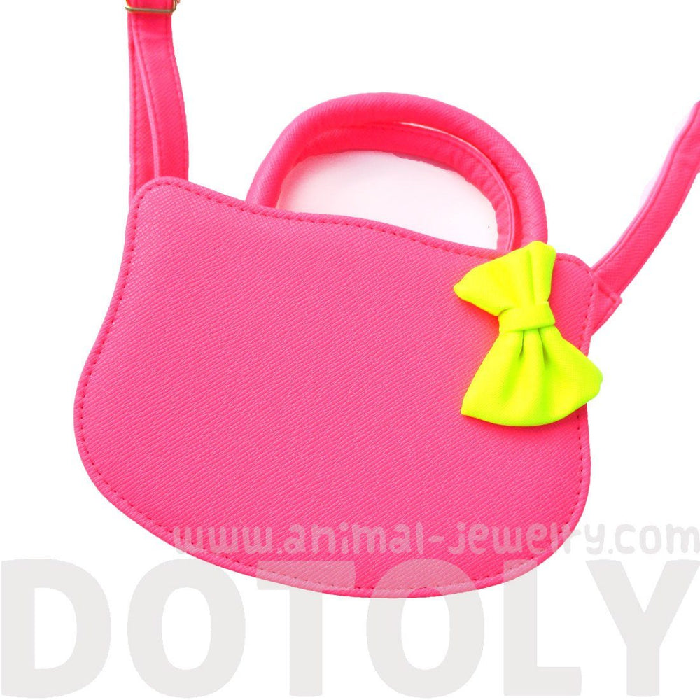Cat Silhouette Shaped Hello Kitty Cross body Shoulder Bag for Women in Neon Pink | DOTOLY