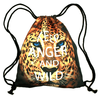Cheetah Leopard Jaguar Face Animal Print Drawstring Cinch Backpack Bag for Women | DOTOLY | DOTOLY