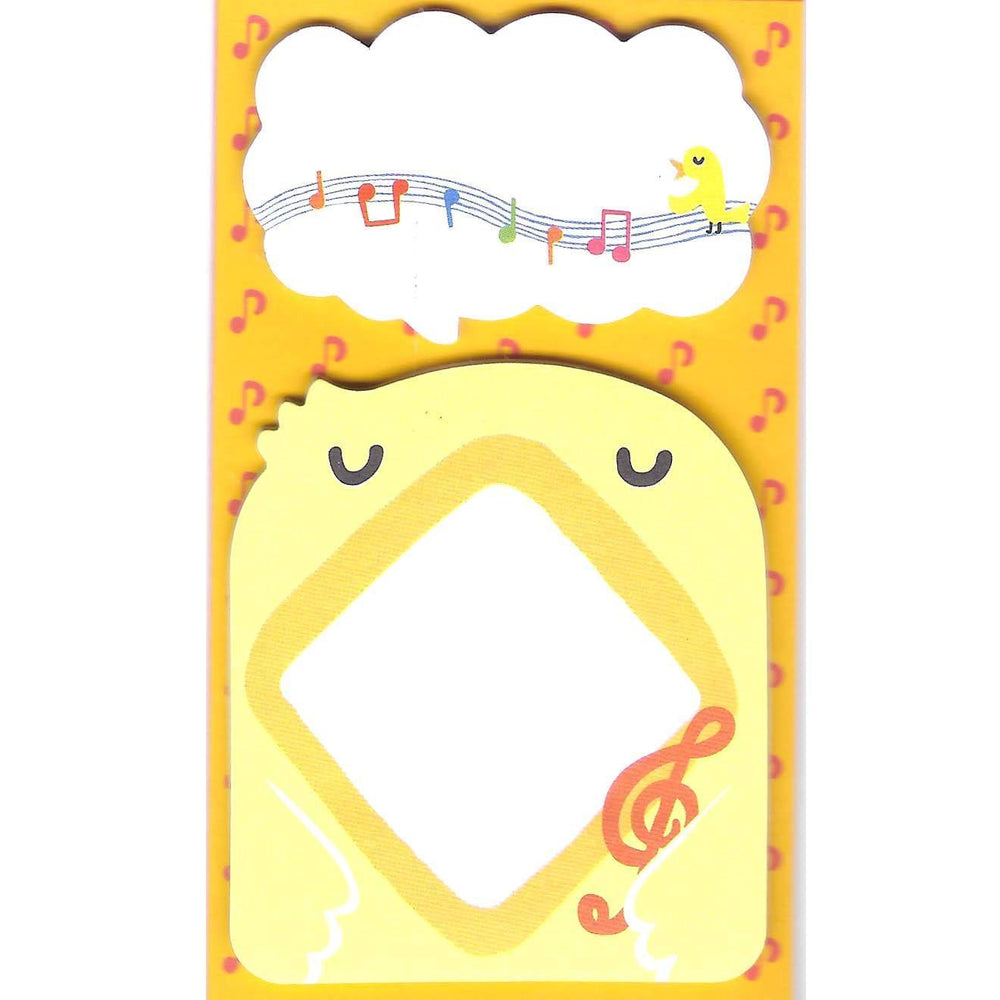 Chick Bird and Speech Bubble Shaped Animal Themed Memo Sticky Post-it Note Pad | DOTOLY