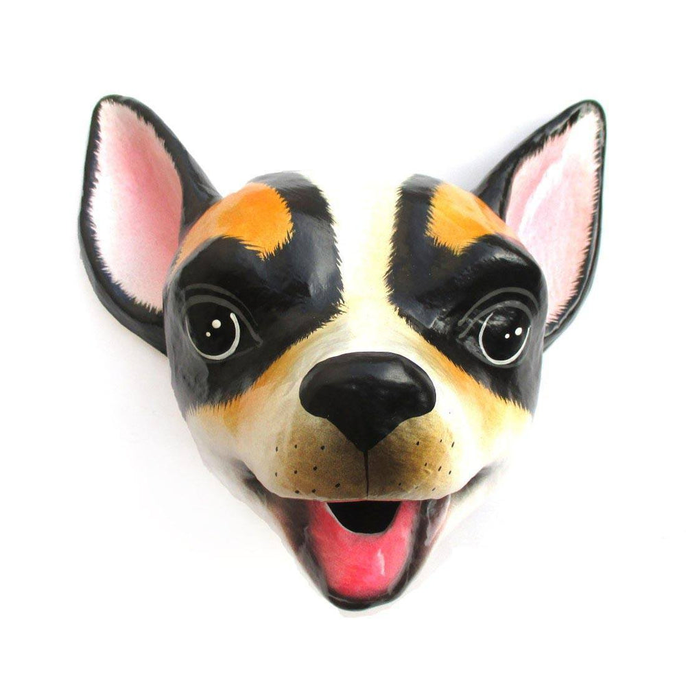 Chihuahua Puppy Animal Head Shaped Faux Taxidermy Wall Hanging Trophy