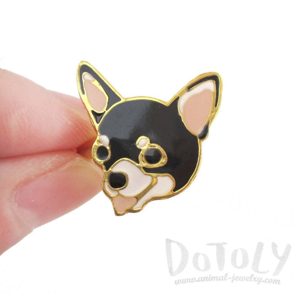 Chihuahua Puppy Shaped Limited Edition Adjustable Animal Ring in Black
