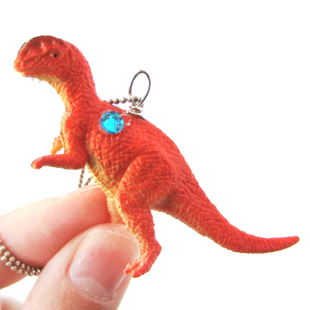 classic-dinosaur-shaped-figurine-pendant-necklace-in-red-animal-jewelry