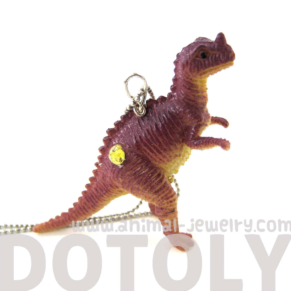 Classic Dinosaur With Horn Figurine Pendant Necklace | Animal Jewelry | DOTOLY