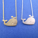 Classic Happy Whale Silhouette Pendant Necklace | Animal Jewelry