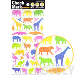 Colorful Animal Silhouette Shaped Stickers from Japan