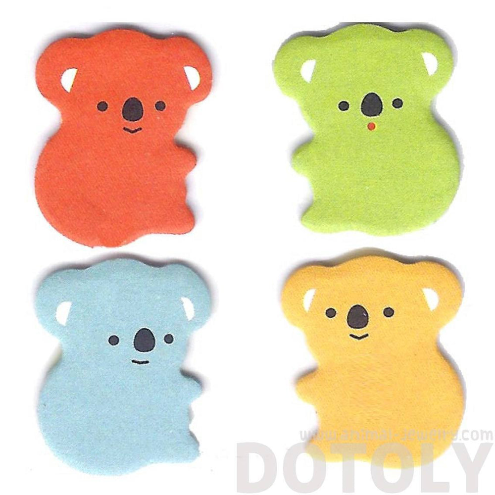 Colorful Koala Bear Shaped Animal Adhesive Post-it Bookmark Tabs