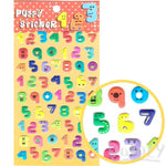 Colorful Numbered Smiley Face Shaped Puffy Stickers