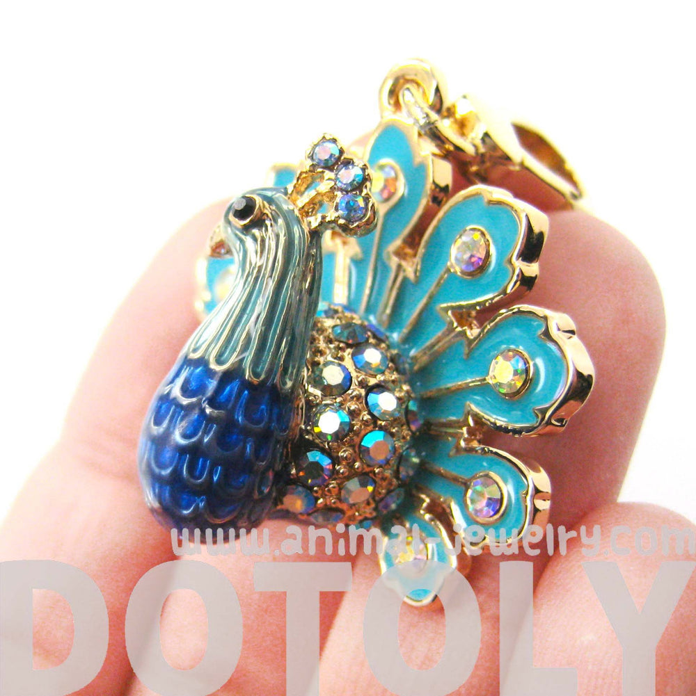 colorful-peacock-bird-animal-pendant-necklace