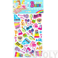 Colorful Piano Keys Instruments Shaped Music Themed Jelly Stickers