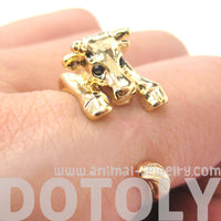 Cow Bull Shaped Animal Wrap Around Ring in Shiny Gold | Sizes 4 to 9