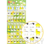 Cute Alpaca Farm Animal Shaped Puffy Stickers for Scrapbooking | DOTOLY