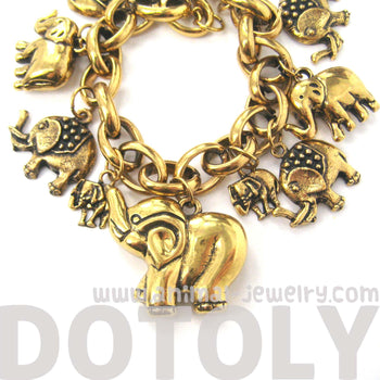 cute-elephant-themed-charm-bracelet-animal-jewelry