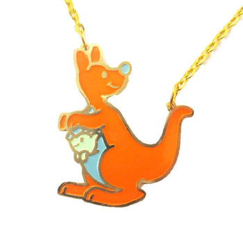 Cute Kangaroo Shaped Animal Cartoon Pendant Necklace | Limited Edition