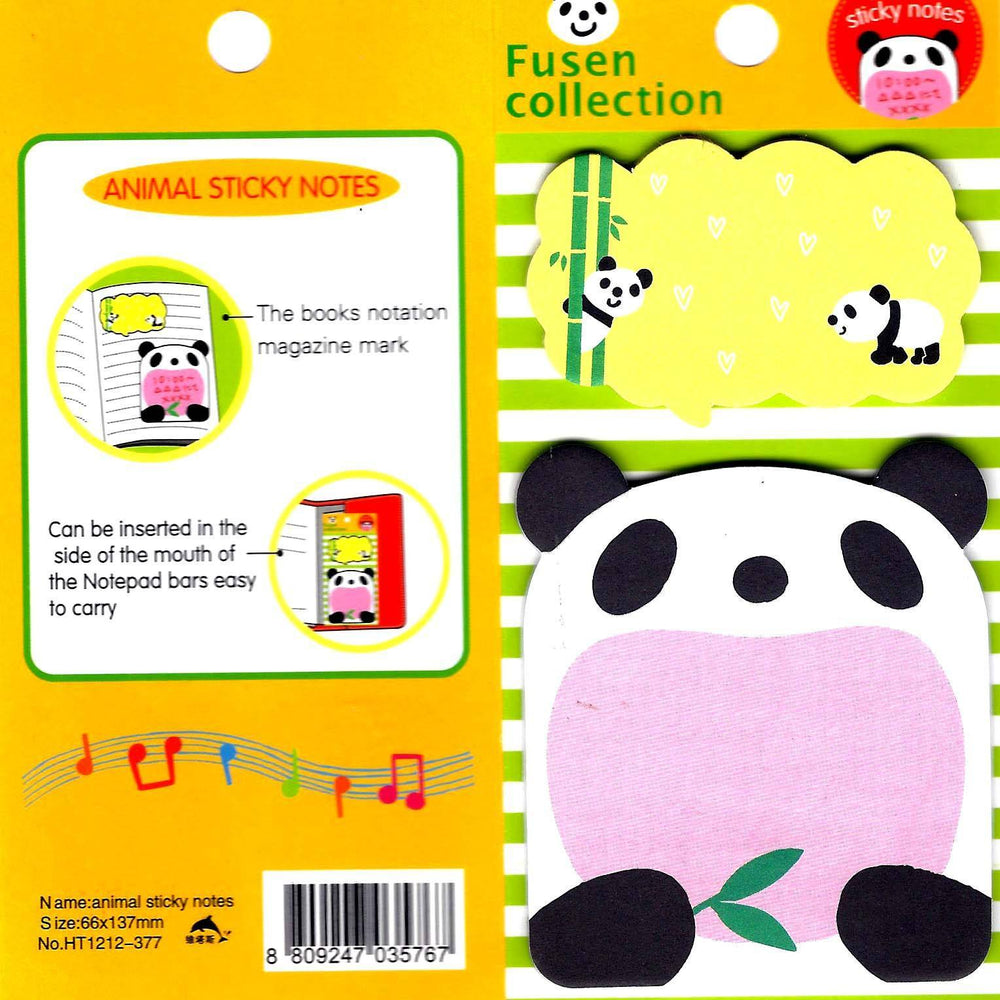 Cute Panda Bear Animal Themed Memo Sticky Stationery Post-it Note Pad