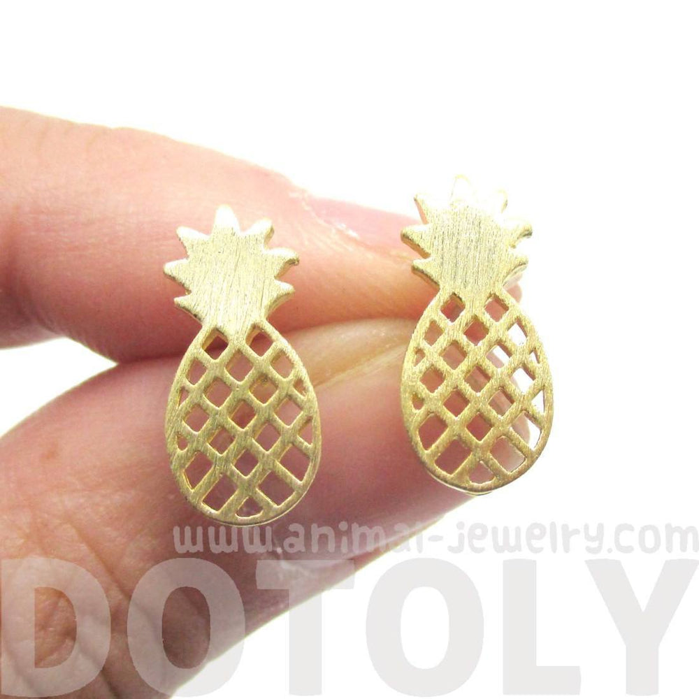 pineapple product stud earring glitsier products com image